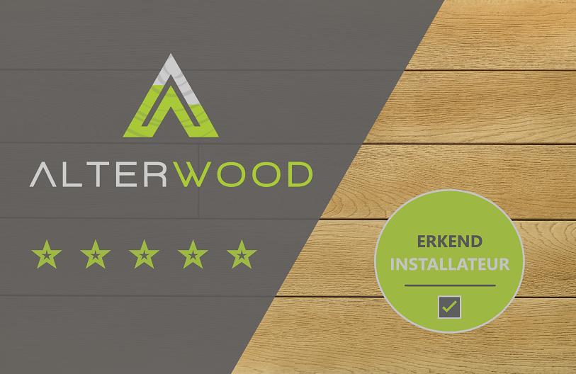 AlterWood - Erkend installateur badge